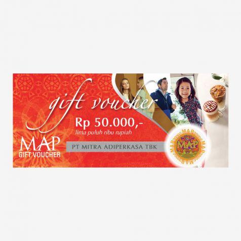 (Paper) MAP Gift Voucher Rp50.000