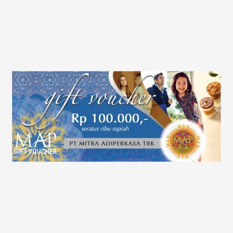 (Paper) MAP Gift Voucher Rp100.000